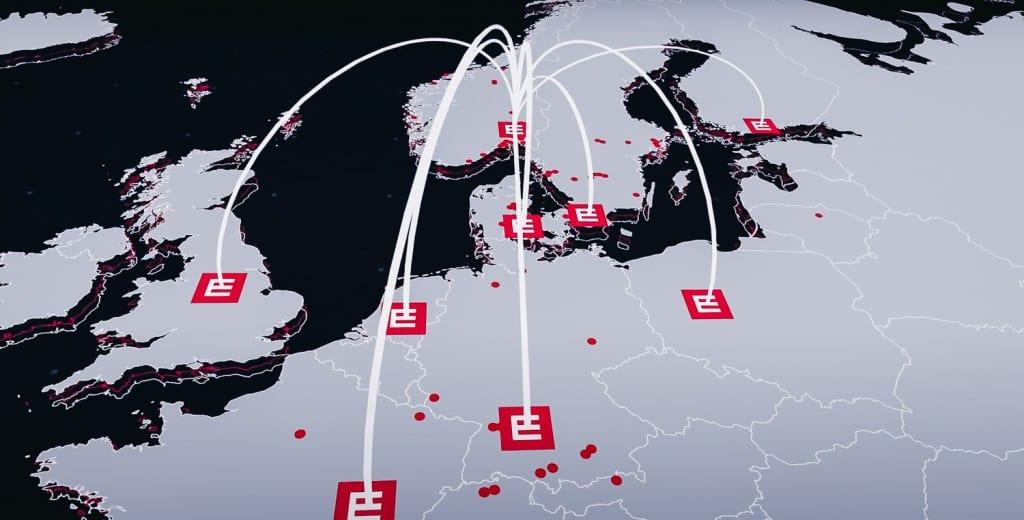 Element Logic-Weltkarte mit Standorten und bei Kunden installierten Anlagen