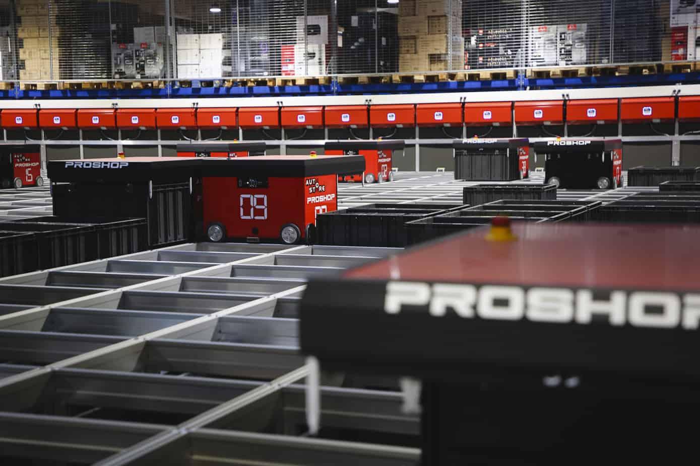 Autostore roboter ladestation