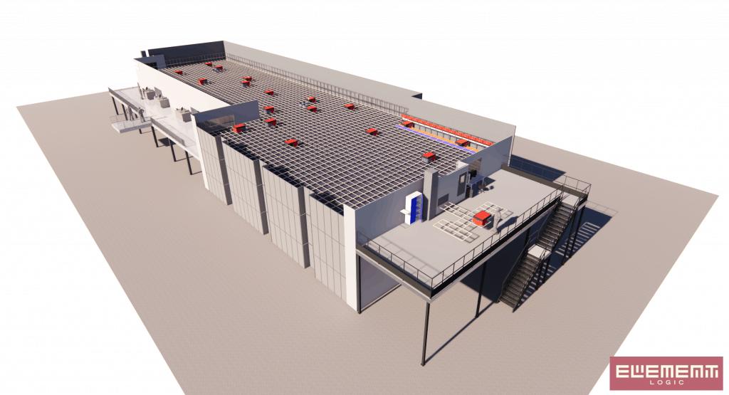 3D-Visualisierung einer AutoStore Anlage