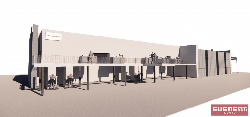 3D-Visualisierung des AutoStore Systems bei Alexander Bürkle